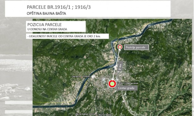 Prodajem plac u neposrednoj blizini reke Drine