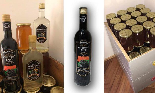 Prodajem prirodni vrcani med i starinsko kupinovo vino